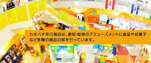 カネハチ早川商店は、愛知・岐阜のアミューズメントに食品やお菓子など多種の商品の卸を行っています。